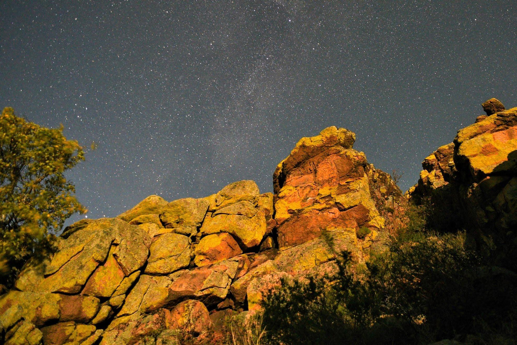 Возле горы Баин-хан ночью